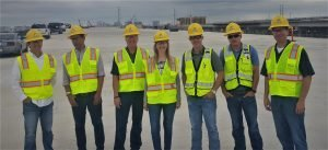 En obra de infraestructura en Dallas, Texas, USA