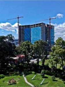 Construcción del Hotel Hilton